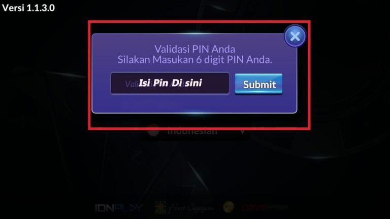tampilan kode validasi